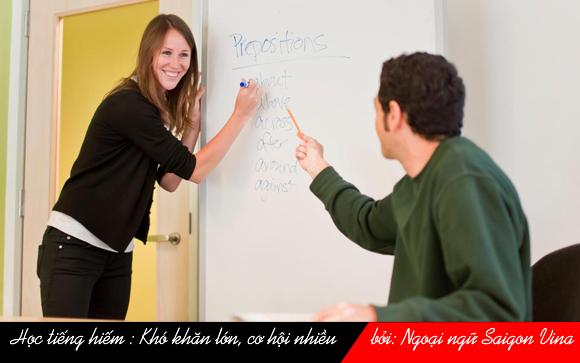 SGV, Học tiếng hiếm : Khó khăn lớn, cơ hội nhiều