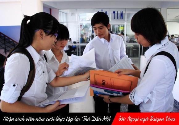 SGV, Nhận sinh viên năm cuối thực tập tại Thủ Dầu Một