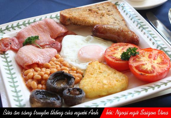 Văn hóa Anh qua những bữa ăn trong ngày