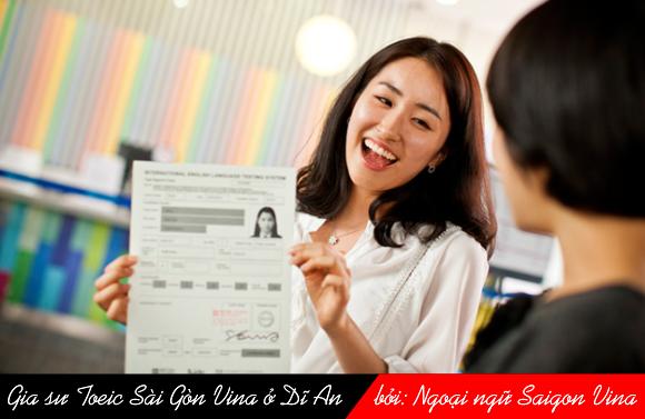 Gia su Toeic Sai Gon Vina o Di An, Binh Duong