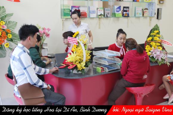 Trung tam tieng Hoa Sai Gon Vina o Di An, Binh Duong