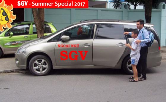 xe đưa đón lớp hè bán trú summer special 2017