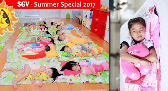 phòng ngủ lớp hè bán trú summer special 2017
