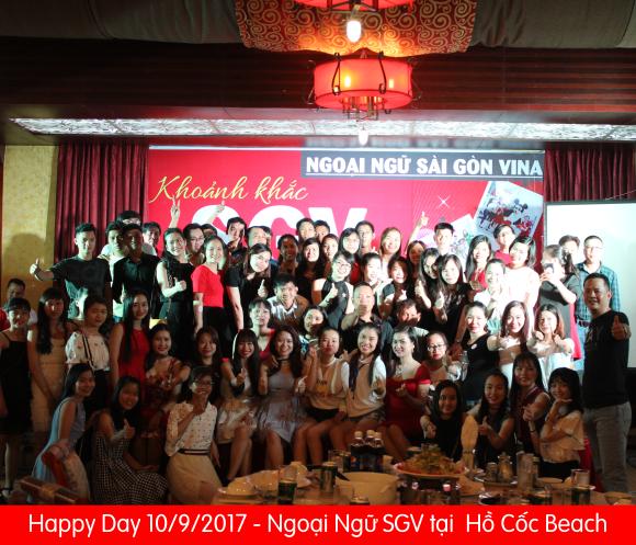 happy day 10/9 - Ngoại ngữ SGV