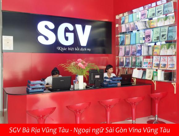 SGV - he thong ngoai ngu Sai Gon Vina o Vung Tau