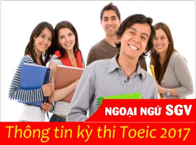 thong tin ky thi toeic 2017