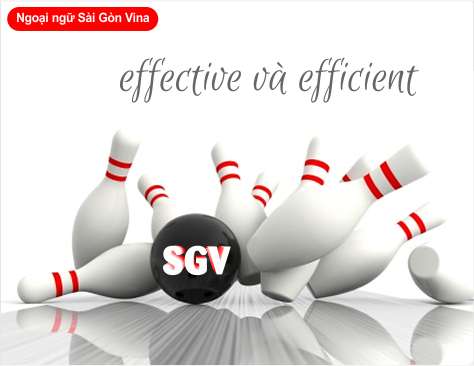 su khac nhau giua effective va efficient