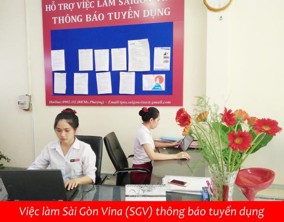 SGV, Việc làm Sài Gòn Vina (SGV) thông báo tuyển dụng