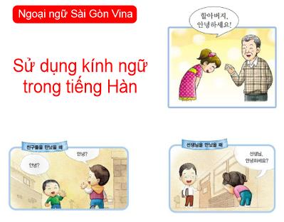 Sử dụng kính ngữ trong tiếng Hàn