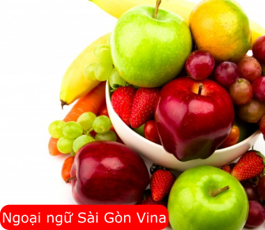 SGV, Từ vựng tiếng Nhật về trái cây (phần 2)