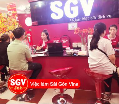 SGV, Tuyển nhân viên xoay ca làm gần CV Gia định