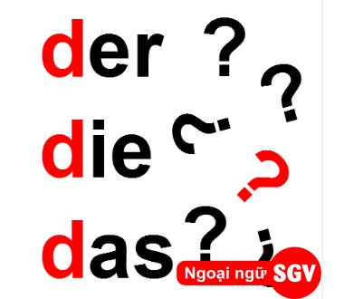 SGV, Phân biệt mạo từ der, die và das
