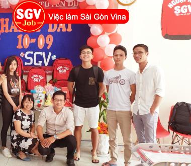 SGV, Sài Gòn Vina nhận sinh viên thực tập sinh