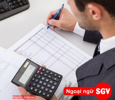 SGV, Tiếng Nhật ngành kế toán