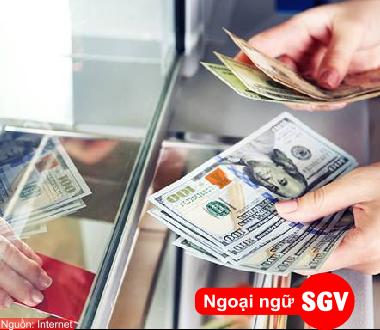 SGV, Từ vựng tiếng Hoa chủ đề tiền bạc