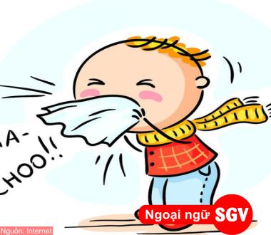 SGV, Từ vựng về các bệnh thường gặp (Phần 1)