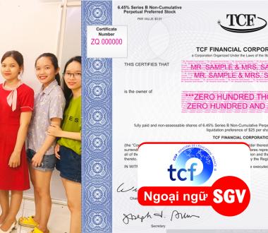 SGV, Chứng chỉ TCF là gì
