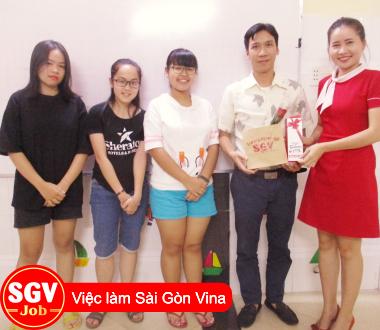 SGV, Trường ngoại ngữ SaiGon Vina tổ chức tuyển giáo viên ngoại ngữ