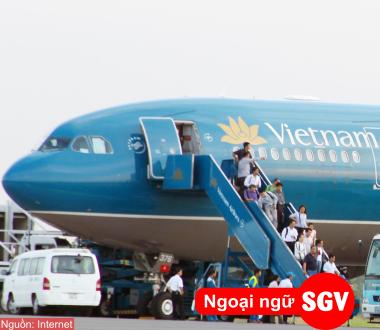 SGV, Từ vựng tiếng Hàn về Hàng không (Phần 1)