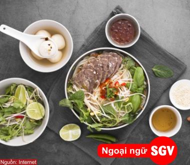 sài gòn vina, các món ăn Việt Nam bằng tiếng Trung