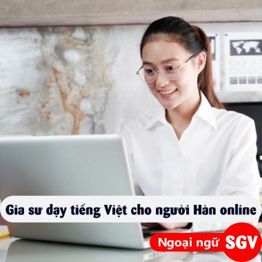 Sài Gòn Vina, Gia sư dạy tiếng Việt cho người Hàn online