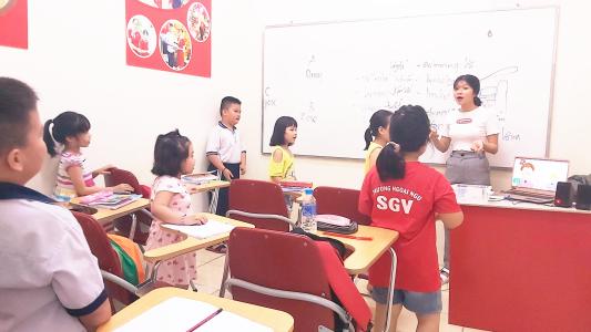 Sài Gòn Vina, Phương pháp dạy tiếng Anh cho thiếu nhi