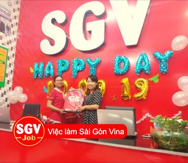Sài Gòn Vina, Ngoại ngữ SGV quận 7 tuyển nhân viên tư vấn khách hàng