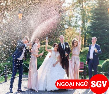 saigonvina, Hội thoại mẫu câu tiếng Anh về đám cưới