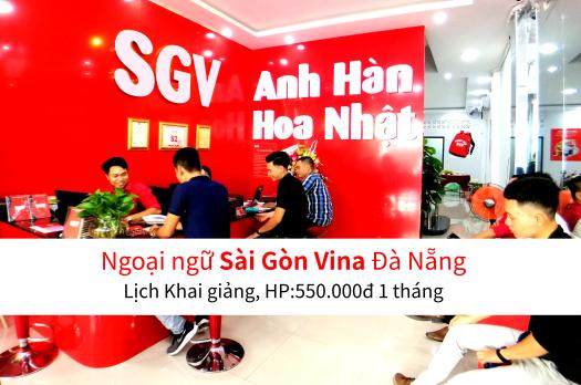 Sài Gòn Vina, Khóa học Anh, Hàn, Hoa, Nhật ở Đà Nẵng