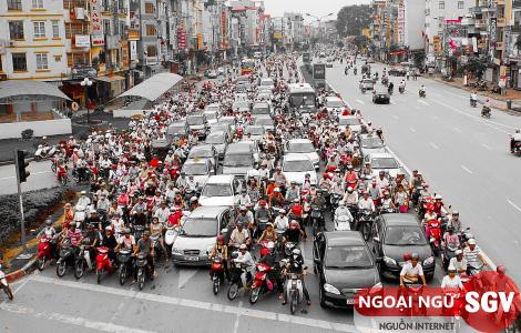 Sài Gòn Vina, Chủ đề tiếng Anh về giao thông