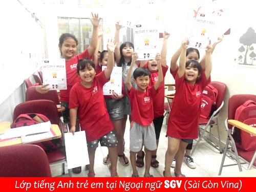 Sài Gòn Vina, Trung tâm tiếng Anh cho bé 5 tuổi