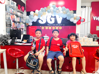 SGV, khoa hoc tieng Anh cho tre em o Di An, Binh Duong