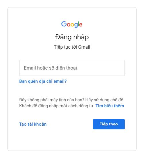 Đăng nhập với Google