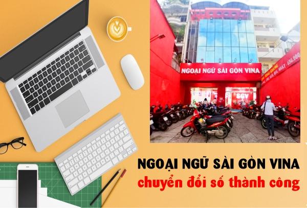 hệ thống ngoại ngữ Sài Gòn Vina chuyển đối số thành công.