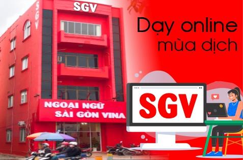 ngoại ngữ Sài Gòn Vina chuyển sang dạy online mùa dịch, saigonvina